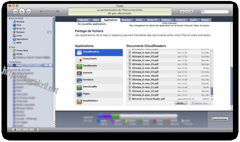 iTunes Partage de fichiers avec votre iPad