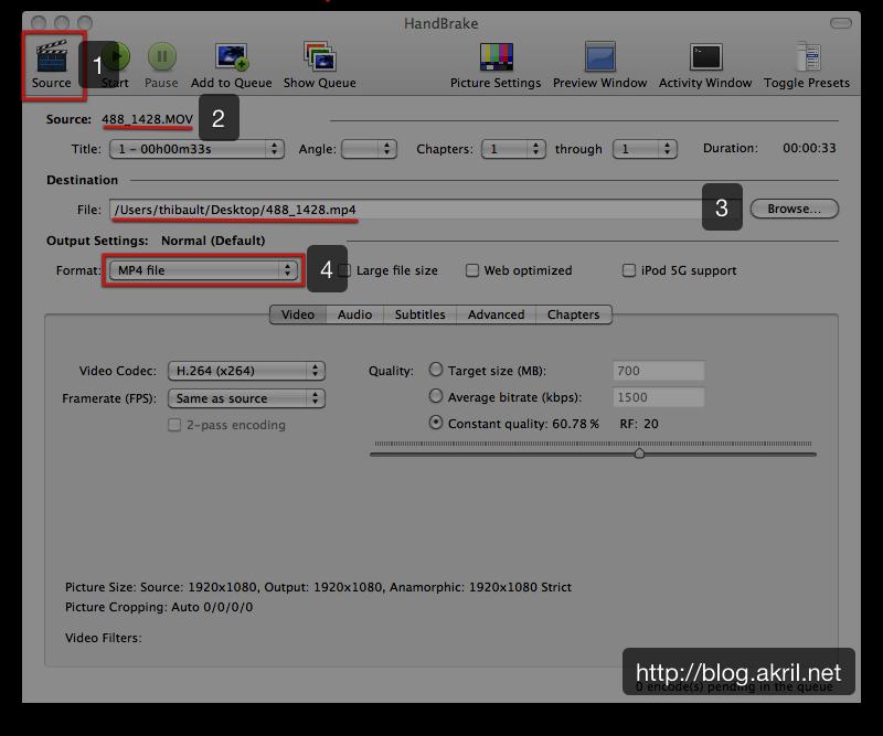 Convertir ses fichiers vidéos pour son iPad - HandBrake