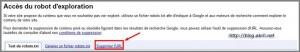 Supprimer une URL de Google