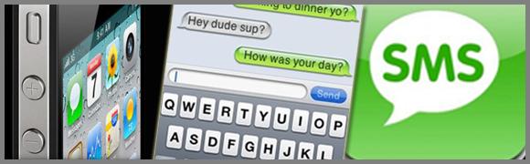 Envoyer SMS via iPhone avec un clavier
