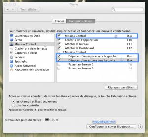 Préférences Clavier Mac OS X Lion