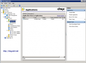 Console Citrix XenApp