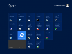 Start Menu with Metro interface