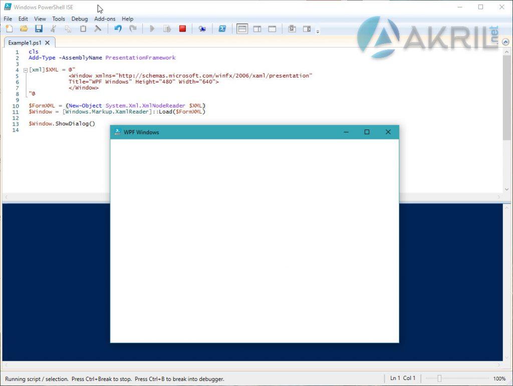 Création d'une interface graphique simple WPF en PowerShell