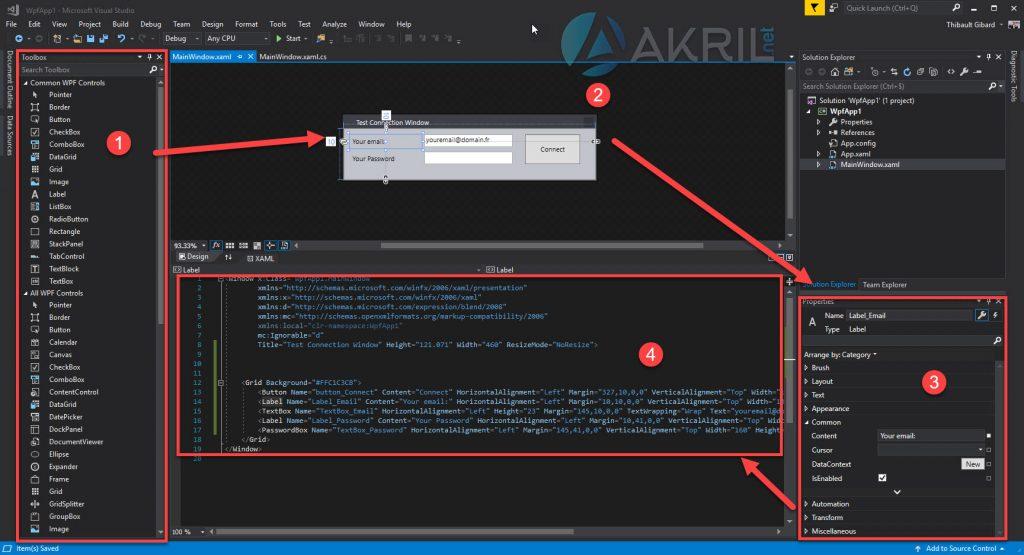 Fonctionnement du Designer de Visual Studio