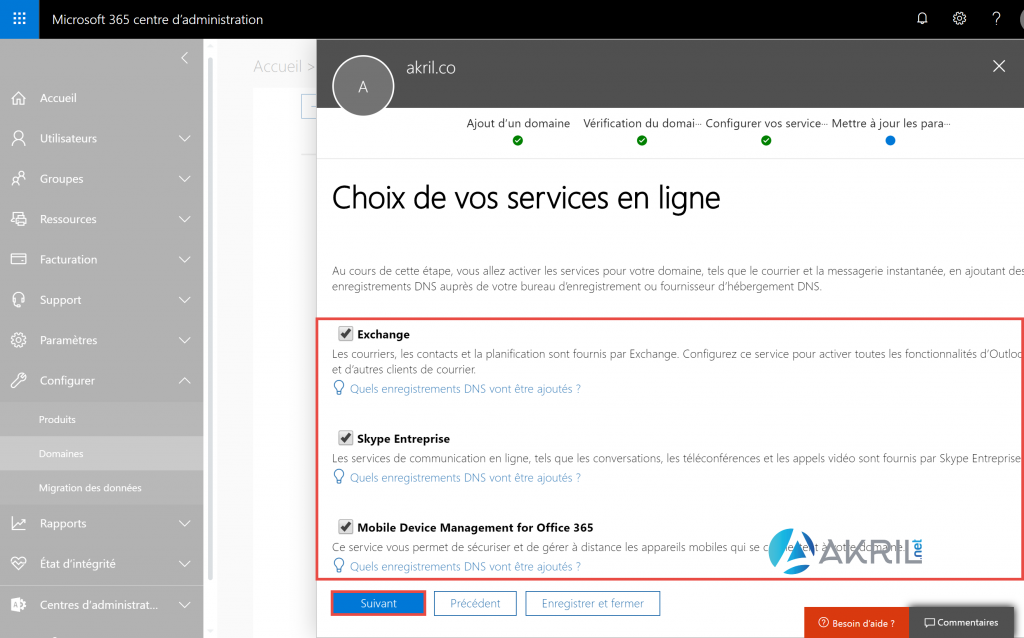 Services Office 365