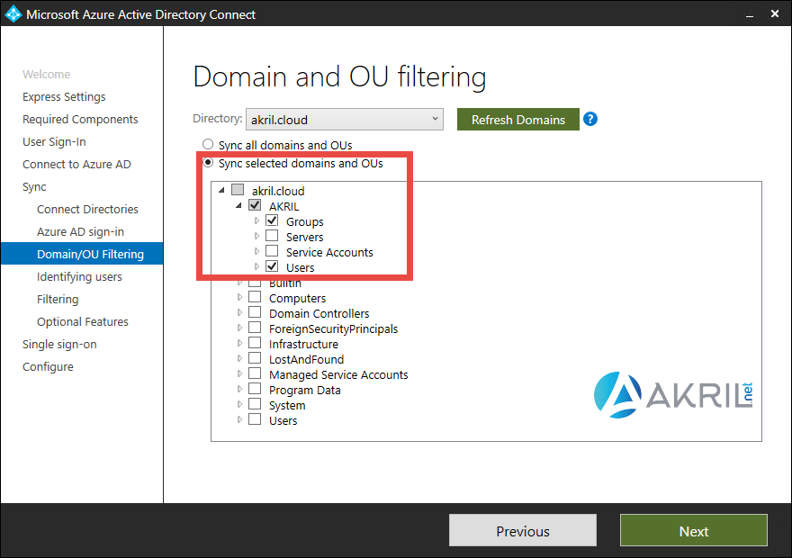Installation Azure AD Connect (Suite)