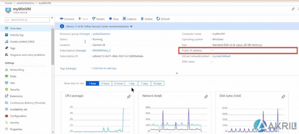 Azure Bastion - Pas besoin d'adresse IP sur la VM