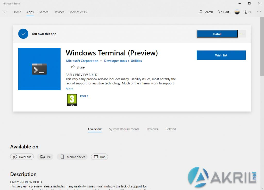 Windows Terminal Preview - Disponible sur le Microsoft Store
