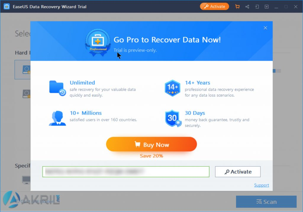 EaseUS Data Recovery - Version Pro