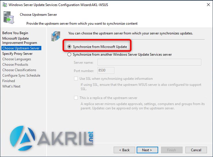 Synchronisation avec Microsoft Update