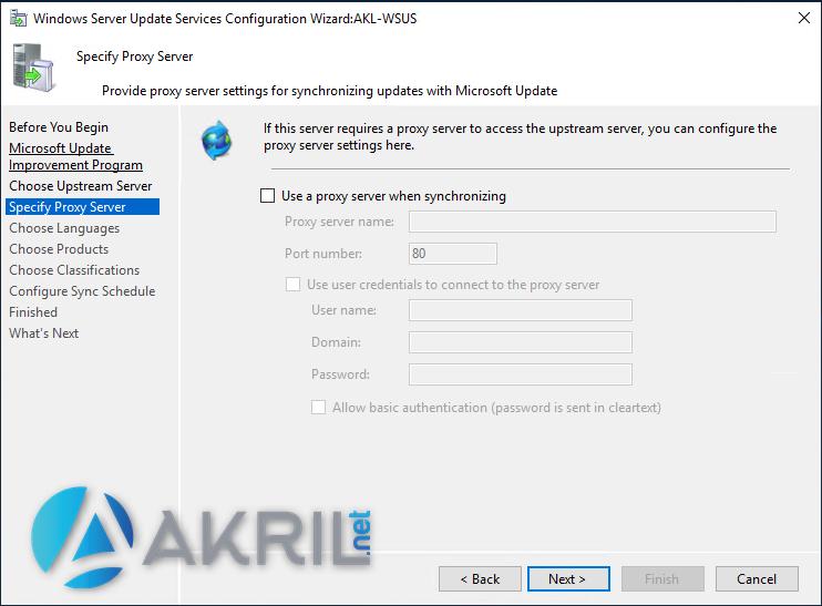 Configurer un proxy pour votre WSUS