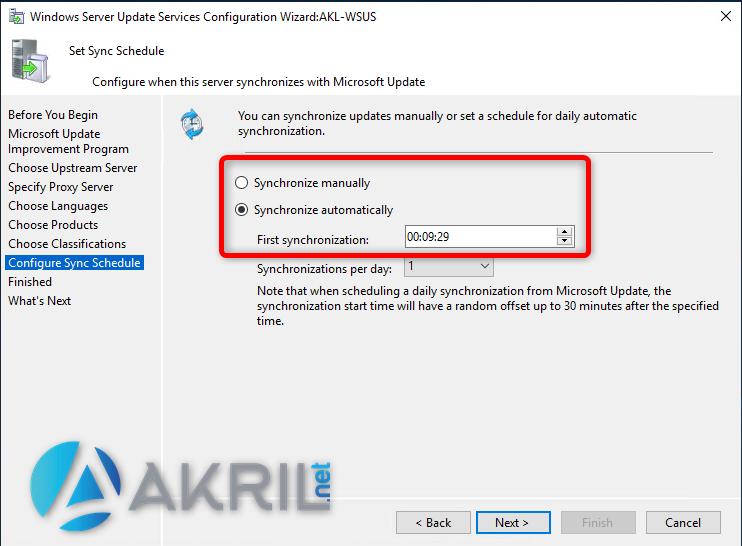 Configuration de la Synchronisation avec Microsoft Update