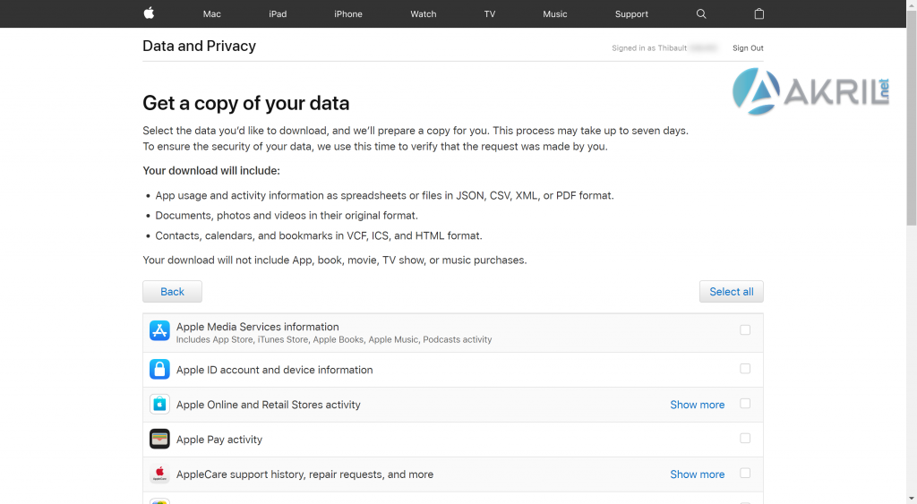 iCloud - Data and Privacy