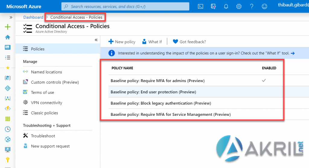 Azure Conditional Access - Stratégies
