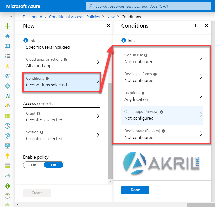 Azure Conditional Access - Conditions