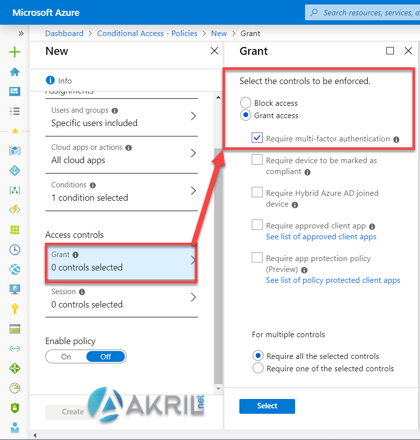 Azure Conditional Access - Action