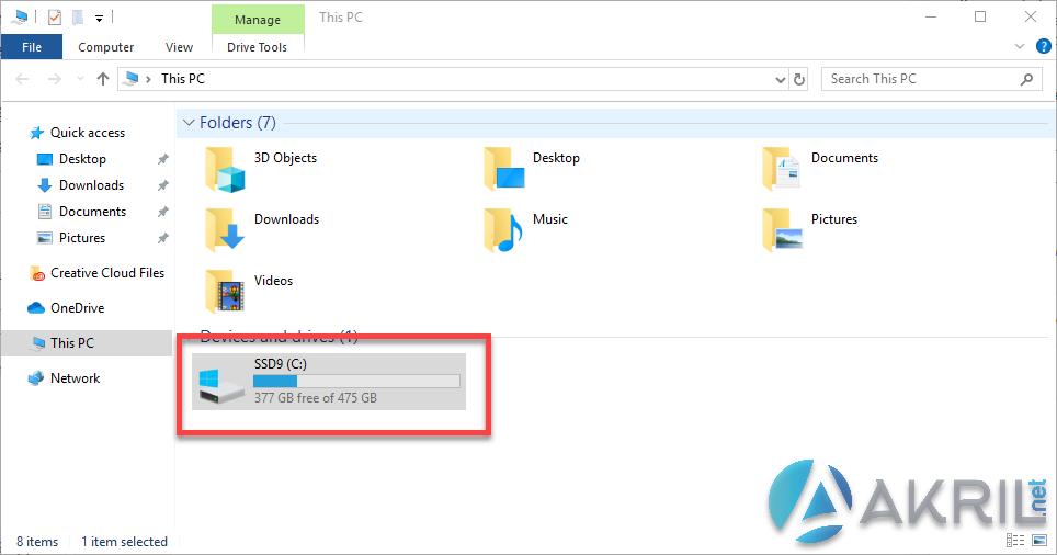 Vue de votre disque dur avant BitLocker