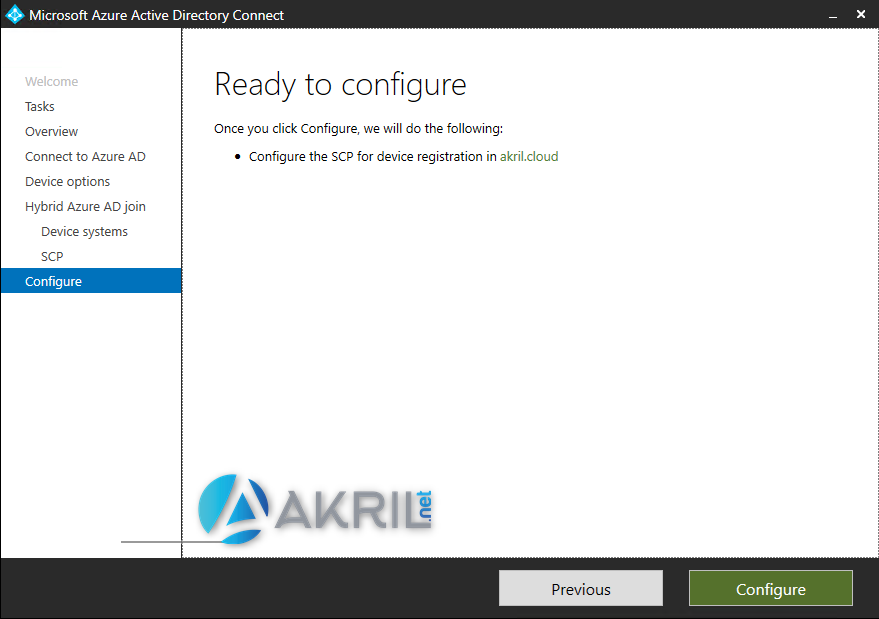 Activation de Hybrid Azure AD Join
