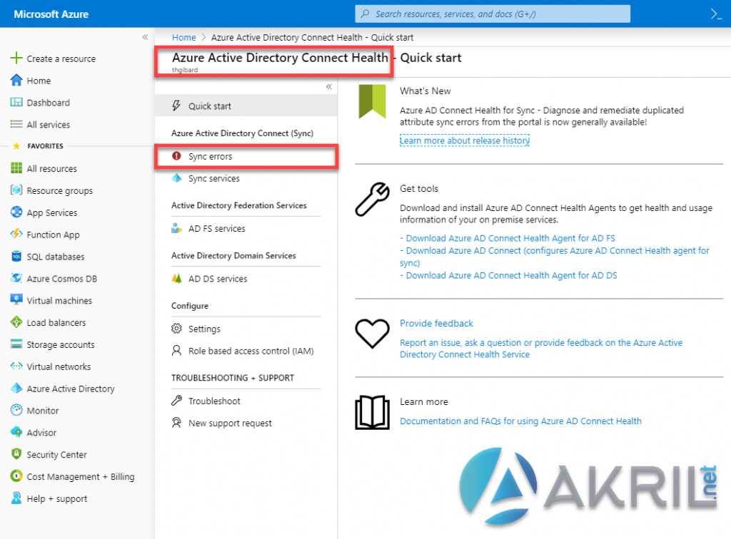 Azure Active Directory Connect Health