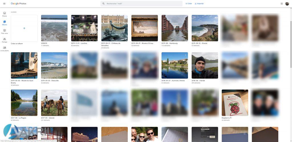 Albums dans Google Photos