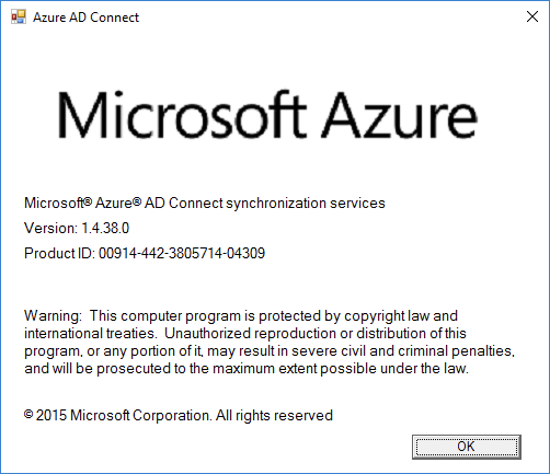 Version Azure AD Connect
