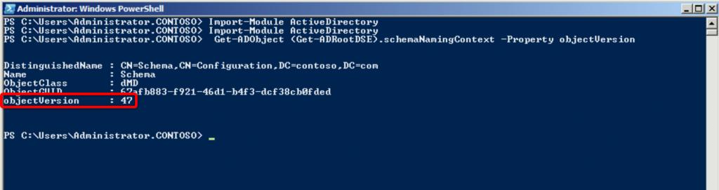 Schéma Active Directory en PowerShell