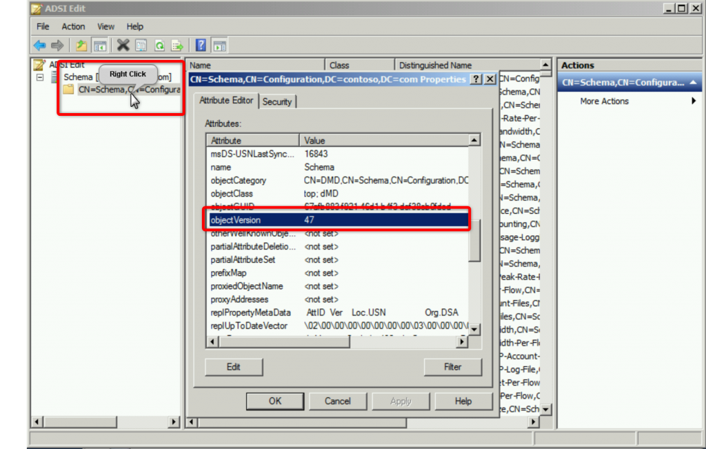 Schéma Active Directory via ADSI Edit (Suite)