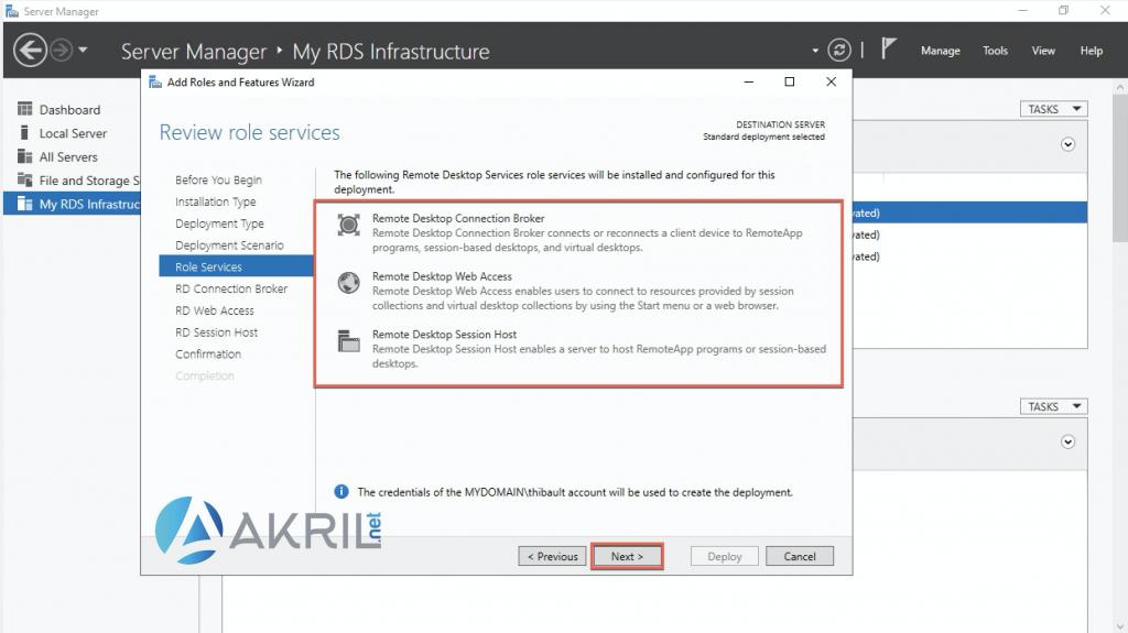 Installation des rôles Remote Desktop Services (5)