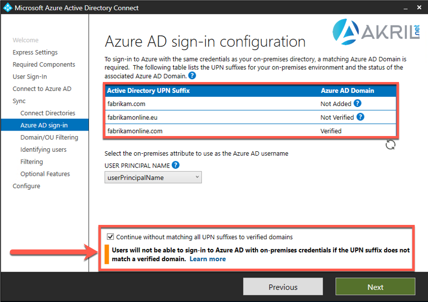 Azure AD Connect - Users will not be able to sign-in...