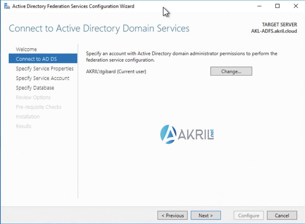 Création de votre premier serveur ADFS