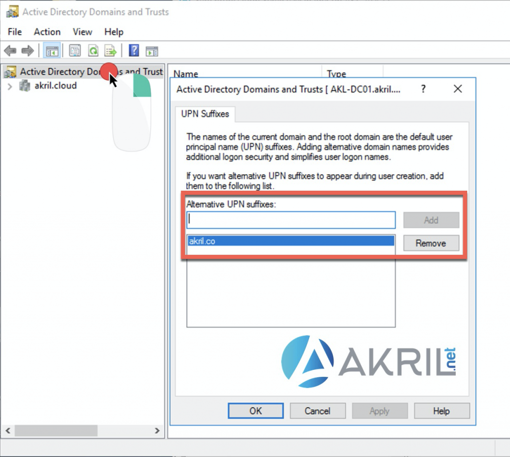 Active Directory Domains and Trust - UPN Suffixes
