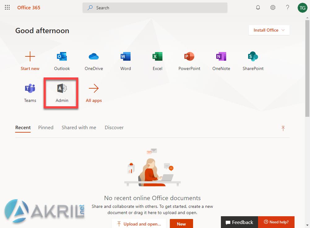 Accès à votre portail administrateur Microsoft 365