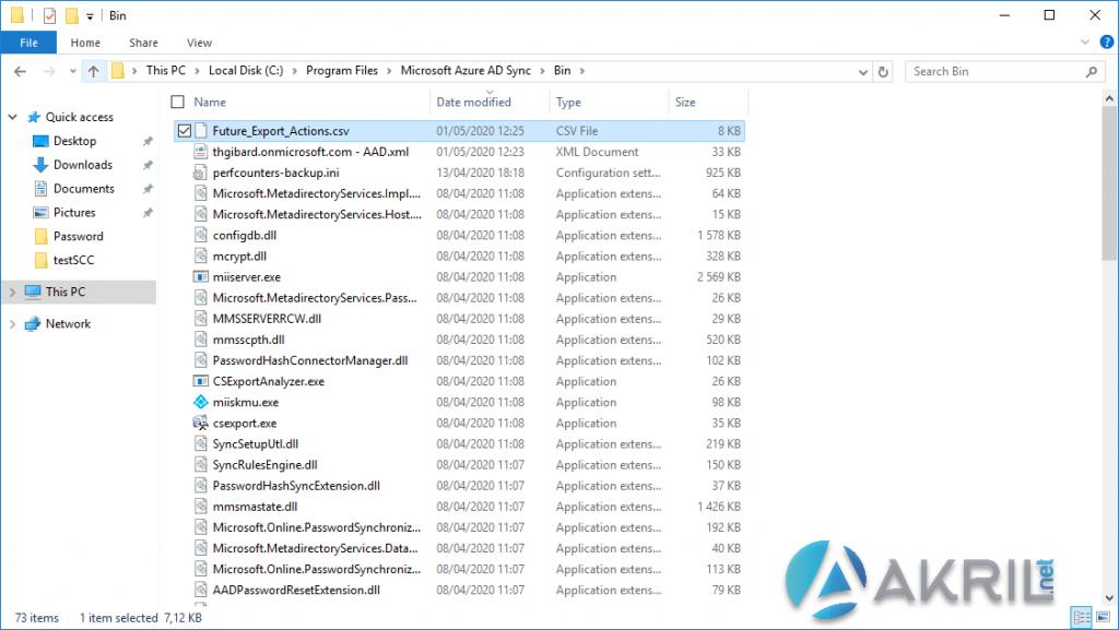 Export les actions de Azure AD Connect (2)