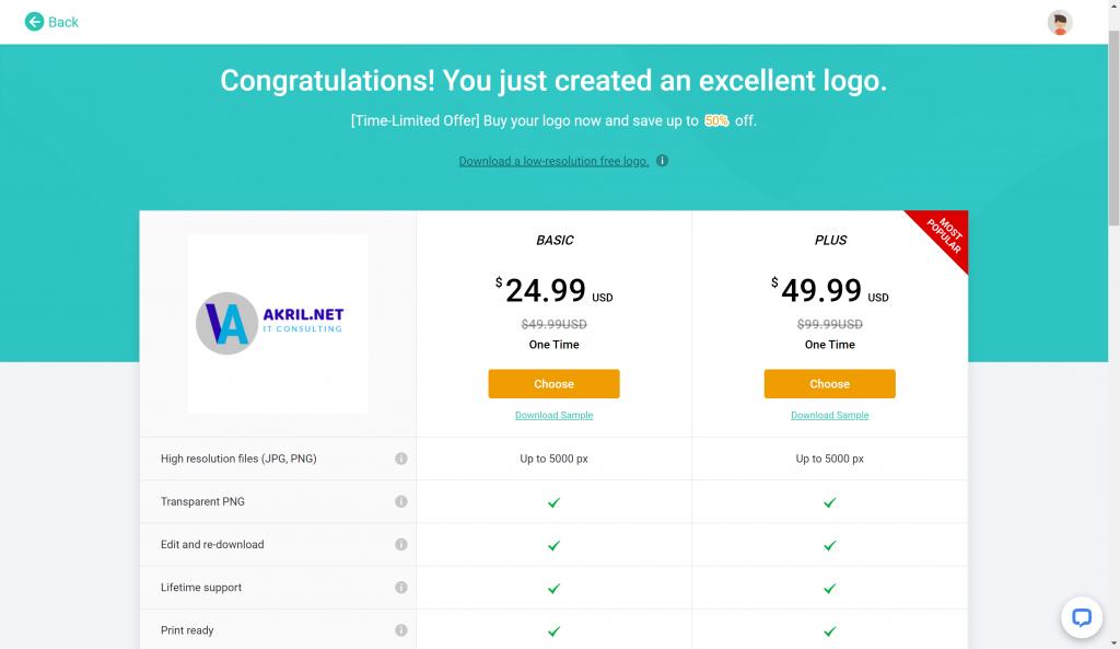 DesignEvo : obtenez les droits liés au logo