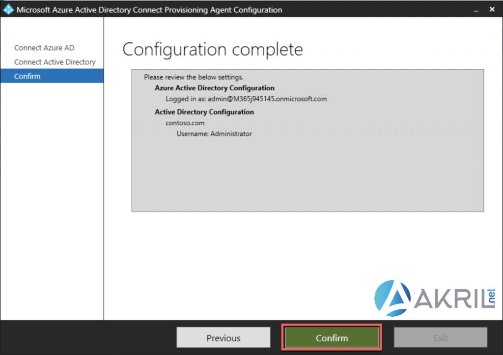 Déploiement de Azure AD Connect - Cloud Provisioning (6)