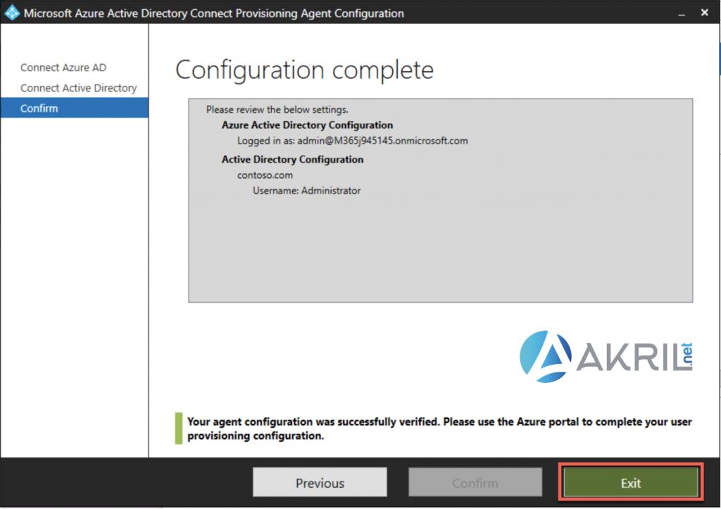 Déploiement de Azure AD Connect - Cloud Provisioning (7)