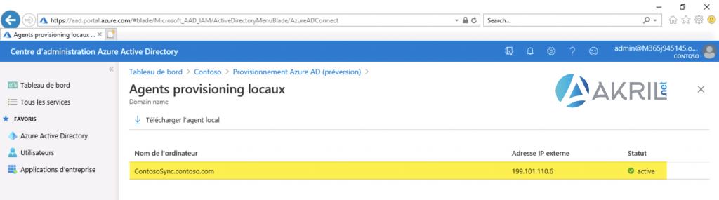 Déploiement de Azure AD Connect - Cloud Provisioning (8)
