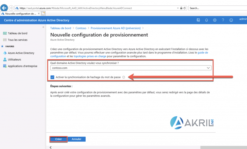 Configuration de Azure AD Connect - Cloud Provisioning (1)
