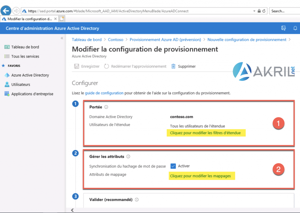 Configuration de Azure AD Connect - Cloud Provisioning (2)