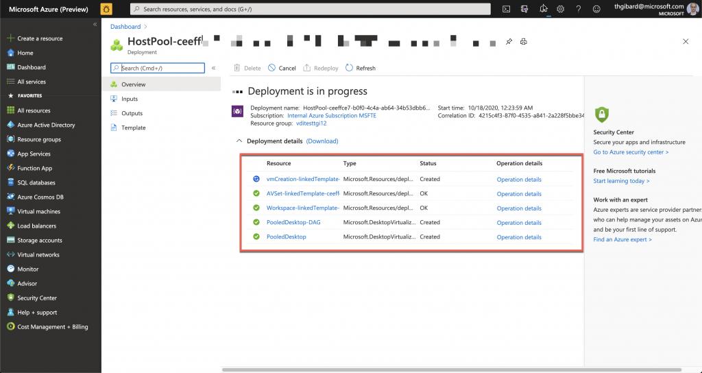 Création de votre environnement Windows Virtual Desktop