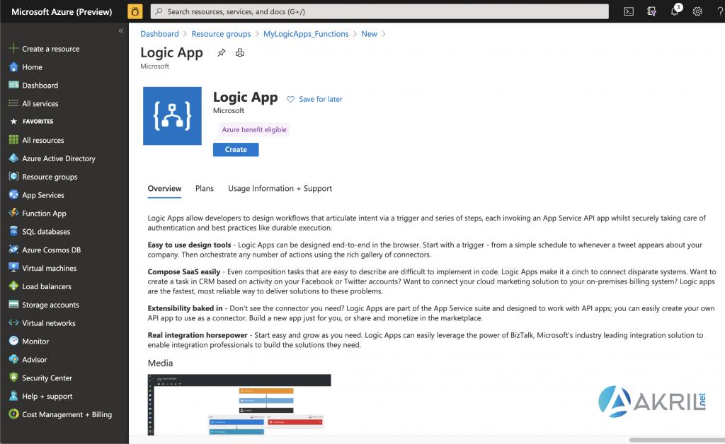 Création d'une Azure Logic App