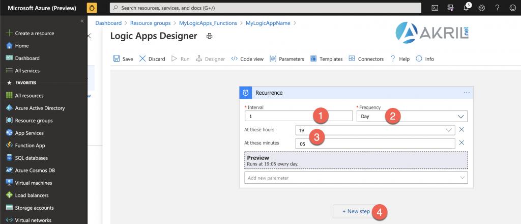 Configuration d'une Azure Logic App (3)
