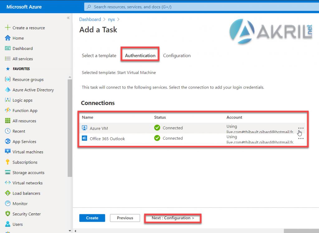 Configuration de votre tâche Automation (2)