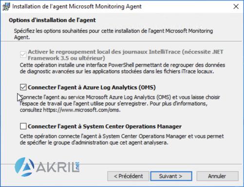 Installation de l'agent Microsoft Monitoring Agent (MMA) pour Azure Sentinel (2)