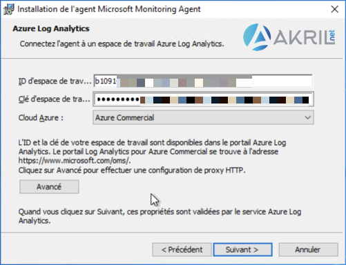 Installation de l'agent Microsoft Monitoring Agent (MMA) pour Azure Sentinel (3)