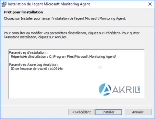 Installation de l'agent Microsoft Monitoring Agent (MMA) pour Azure Sentinel (5)