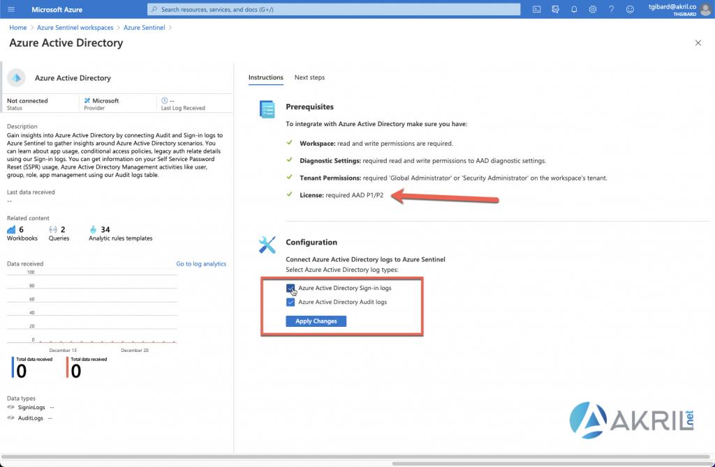 Supervision de Azure Active Directory avec Azure Sentinel