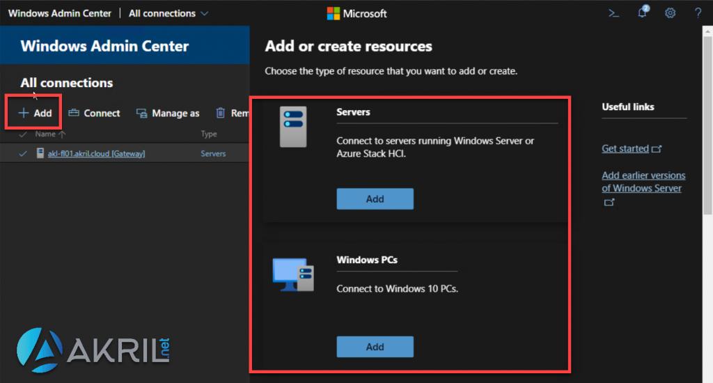 Ajouter de nouveaux serveurs à Windows Admin Center