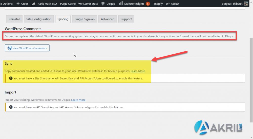 Synchroniser vos commentaires entre Disqus et WordPress